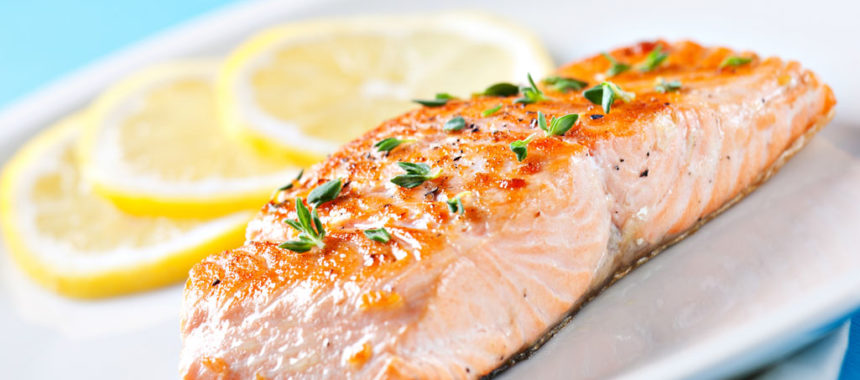 Grilled Salmon with Paprika & Parsley Sauce